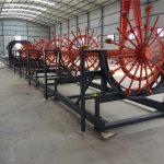 stål pile bur svejse maskine, stål rebar cage making maskine